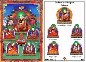 Fondateurs de la lignee Sakyapa