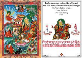 Les huit noms du maitre Gourou Tsengye Le roi du Lotus