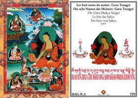 Les huit noms du maitre Gourou Tsengye Le lion des Sakya