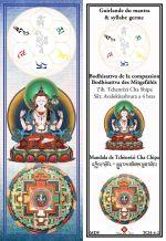 Tchenrezi a 4 bras - Avalokitesvara a 4 bras
