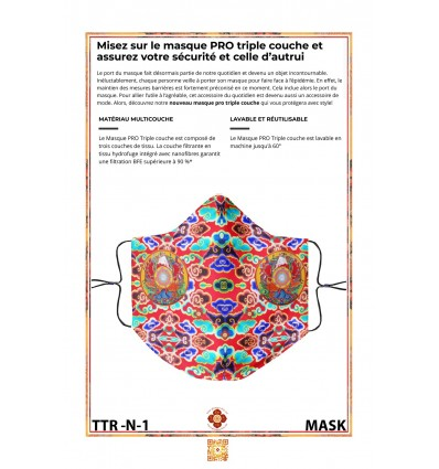 Protection's mask DEITY OF WEALTH RED GANAPATI