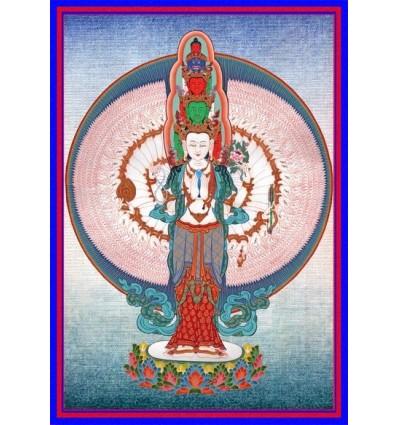 Tchenrezig à 1000 bras - Avalokiteshvara  1000 bras