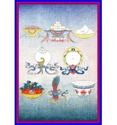 Les huit objets de bon augure - Astamangaladravya
