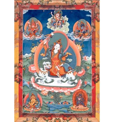 Protectrice du Dharma Tashi Tseringma et les cinq familles de Dzambala