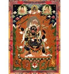 Protecteur du Dharma Mahakala a 4 visages
