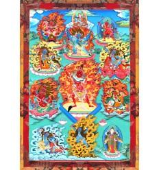 Protecteurs du Dharma de la lignee du Dudjom Tersar
