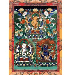 Manjoushri Avalokiteshvara Vajrapani