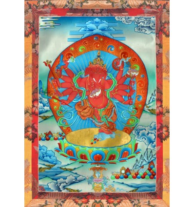 Deity of wealth Red Ganapat