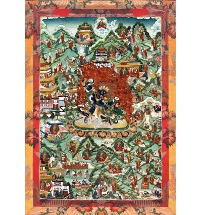 Les huit noms du maitre Gourou Tsengye Le lion rugissant