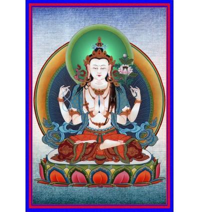 Tchenrezig à 4 bras - Avalokiteshvara 4 bras