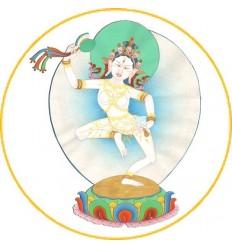 10 adhésifs de la divinité du Tcheu - Matchig Labdreum  - PrajnaParamita