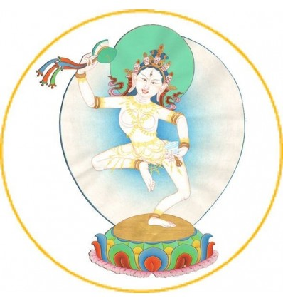 10 Adhésives de la divinité du Tcheu - Matchig Labdreum  - PrajnaParamita