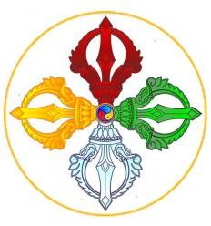 10 adhésifs Double Dorje