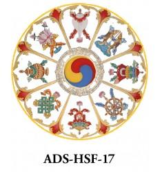10 adhésifs Symboles auspicieux
