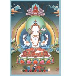 Avalokiteshvara 4 bras Lot de10