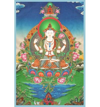 Avalokiteshvara a 4 bras Lot de10
