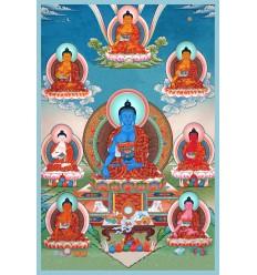 Bhaishajya guru bouddha Lot de10